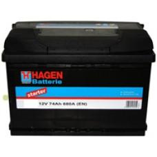 Аккумулятор Hagen L12V 74Ah 680A