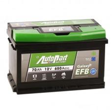 Аккумулятор AutoPart Galaxy EFB Star-Stop R12V 70Ah 650A