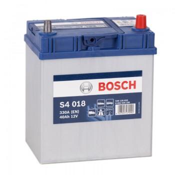 Аккумулятор Bosch S4 018 R12V 40Ah 330A