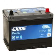 Аккумулятор Exide Excell R12V 70Ah 540A