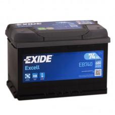 Аккумулятор Exide Excell R12V 74Ah 680A
