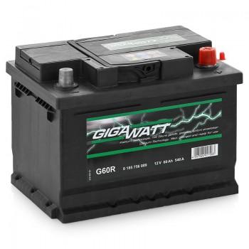 Аккумулятор Gigawatt R12V 60Ah 540A