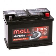 Аккумулятор Moll AGM R12V 70Ah 760A