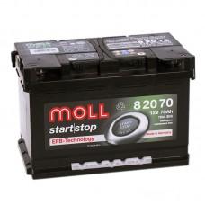 Аккумулятор Moll EFB R12V 70Ah 760A