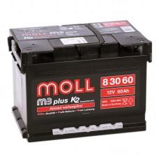 Аккумулятор Moll M3plus R12V 60Ah 550A