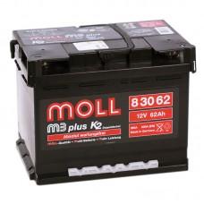 Аккумулятор Moll M3plus R12V 62Ah 600A