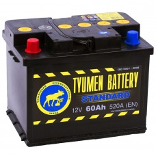 Аккумулятор Тюмень L12V 60Ah 520A