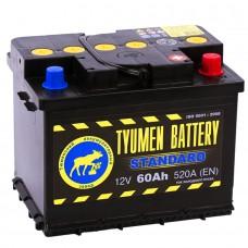 Аккумулятор Тюмень R12V 60Ah 520A