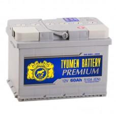 Аккумулятор Тюмень Premium R12V 60Ah 510A