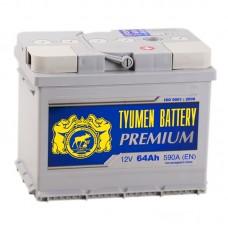 Аккумулятор Тюмень Premium R12V 64Ah 590A