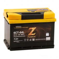 Аккумулятор Z-Power L12V 64Ah 600A