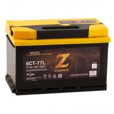 Аккумулятор Z-Power L12V 77Ah 720A